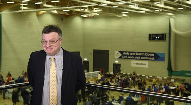 Stephen Farry of the Alliance Party (Michael Cooper/PA)