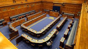 The Northern Ireland Assembly Chamber