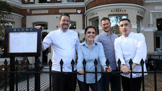 (L-R) Blank owners, Jonny and Christina Taylor, with new general manager, Alex Daley, and head chef, Niall Duffy