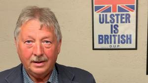DUP's Sammy Wilson has become involved in the sausages row
