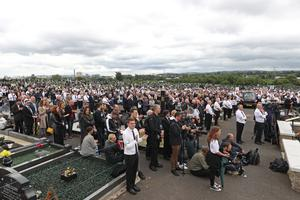 The funeral of former leading IRA figure Bobby Storey at Milltown Cemetery in west Belfast. (Liam McBurney/PA)