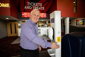 Michael McAdam, MD of Movie House Cinemas, prepares to reopen