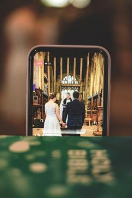Even though their 150 invited guests ones couldn't be with them, the icing on the cake for Kirsten and Richard was being joined online by their loved ones who watched the moving wedding service in seven different countries through the Facebook live stream