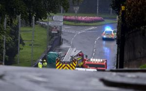 The scene of the fatal crash on the Drum Road in Cookstown