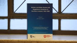 The research report on Mother and Baby Homes and Magdalene laundries in Northern Ireland at Stormont following its publication (Liam McBurney/PA)