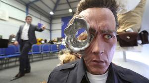 A Terminator 2 movie replica bust among items seized from a drug lord and auctioned in Co Antrim