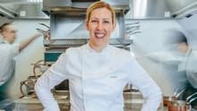 Over the moon: Clare Smyth says moving from two MIchelin stars to three required some very difficult work