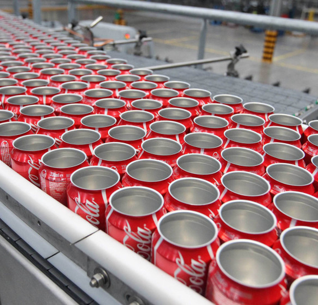 The line at Coca Cola's plant in Lisburn