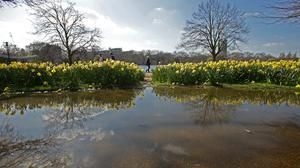 People enjoying the warm weather in Hyde Park, London, as Britain could bask in the warmest weather of the year this weekend as temperatures soar to 19C (66.2F).