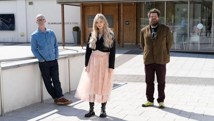 From left: Stephen Wilson, Ellie Niblock and Paddy Bloomer