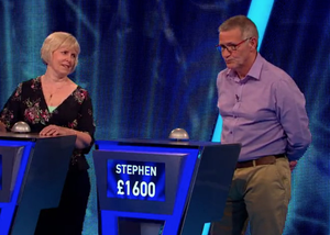 Success: Stevie Lee on the ITV quiz show, Tipping Point