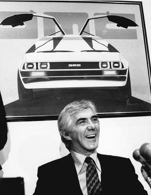 John DeLorean, the car maker who developed the gull-winged sports cars used in the Back to the Future films