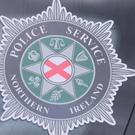 A stock picture of a Police Service of Northern Ireland (PSNI) logo badge in Belfast Northern Ireland.