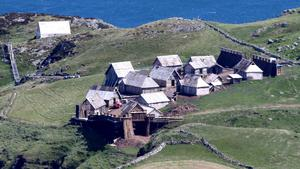 Work has began again on the set of The Northman at Torr Head in Co Antrim starring Nicole Kidma
