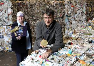 Charity drive: Jo Marley, Director of Bryson Care, and Eric Randall, Director of Bryson Recycling, launch the Bryson Rewards scheme