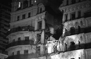 The scene of the bombing on October 12, 1984