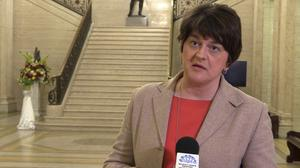 Stormont First Minister Arlene Foster said schools are to close in NI over Covid-19 (Michael McHugh/PA).