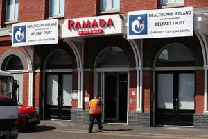 The Ramada Hotel in Belfast city centre which will act as a Community Step Down Centre alongside hospitals in Northern Ireland