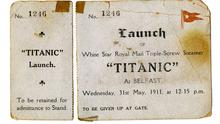 The Titanic ticket that is up for auction. (Henry Aldridge and Son/PA)
