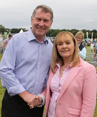 Agriculture Minister Michelle McIlveen with Alastair Sampson