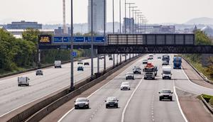 The M2 in Belfast on April 22