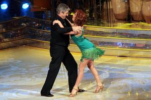 Double act: Vicky Martin with Rossi on Italian Striclty Come Dancing