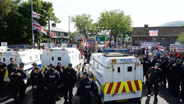 The costliest policing operation is at Twaddell Avenue in north Belfast. The bill has exceeded £7m