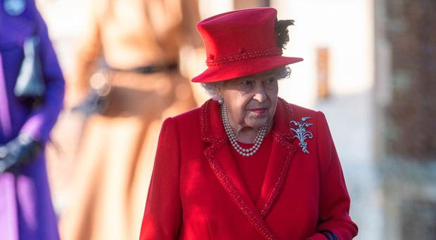 The Queen attending the Christmas Day church service at the Church of St Mary Magdalene on the Sandringham estate