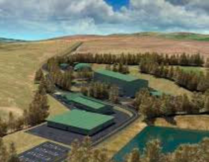 Artist's impression of the Dalradian gold mine project in the Sperrins