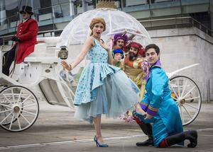 Jolene O'Hara (Cinderella) and Darren Franklin (the prince) launch the Waterfront's panto