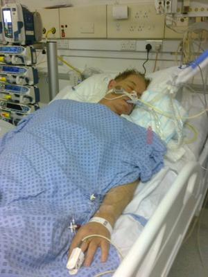 Colin in hospital after contracting swine flu
