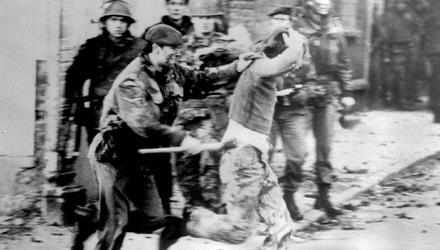 Carnage: a soldier and a protester on Bloody Sunday