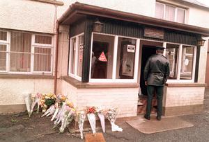 The scene of the massacre at The Heights Bar in Loughinisland