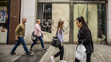 Footfall: Shoppers on Royal Avenue in Belfast city centre yesterday
