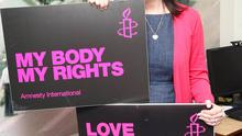 Speaking out: Grainne Teggart, Campaign Manager for Amnesty International, says she is proud of the work her organisation is doing in Northern Ireland