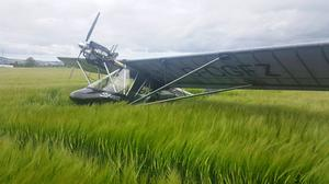 A light aircraft made an emergency landing after suffering engine failure over Co Down (PSNI/PA)
