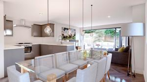 The kitchen area in one of the homes in Farleigh Property's development in Moira