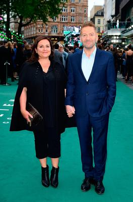 Kenneth Branagh and wife Lindsay Brunnock arriving for the Alien: Covenant Premiere