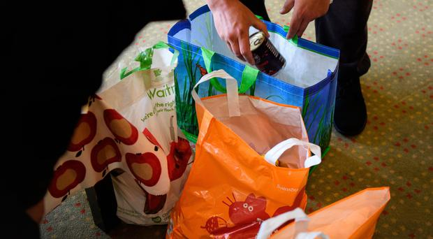 Lisburn Food Bank is open to receive donations between 11am and 1pm on Monday, Tuesday, Thursday and Friday, or there are permanent donation points at Sainsbury's and Tesco (stock photo)