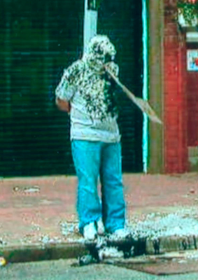 A victim tarred and feathered in Taughmonagh in 2007