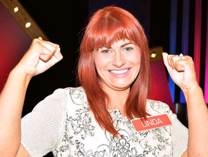 Robbery victim Linda Moore after she scooped £23,000 on television game show Deal Or No Deal