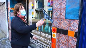Preparing: Shops in Belfast are getting ready to reopen after the rules are eased