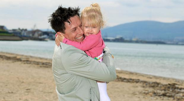 Stephen Clements with his daughter Poppy