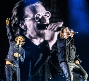 Gary and Bono on stage together