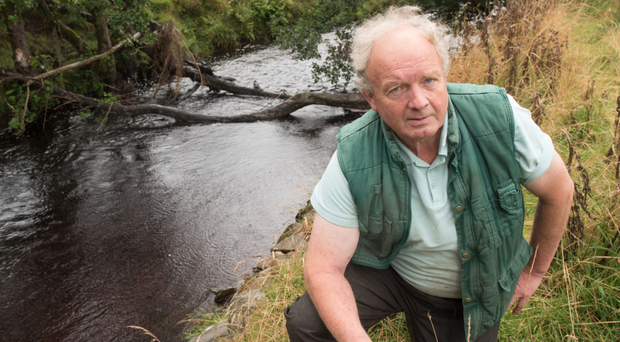 Jim Nicholas' farm between Park and Claudy was flooded in August 2017 when the River Faughan burst its banks