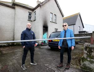 Conard McCullagh, who saved Julie Brewster's daughter after a fire at their Portrush home