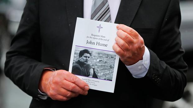 The order of service for the funeral of John Hume