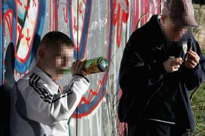 Underage drinkers were discovered by police in south Belfast