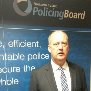 Police Service of Northern Ireland's new chief constable in-waiting George Hamilton during his first press conference since his appointment