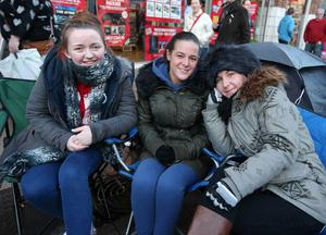 Alicia Chappell, Tracey McCormick and Leanne Harrison. Leanne picked up tickets for her daughter
